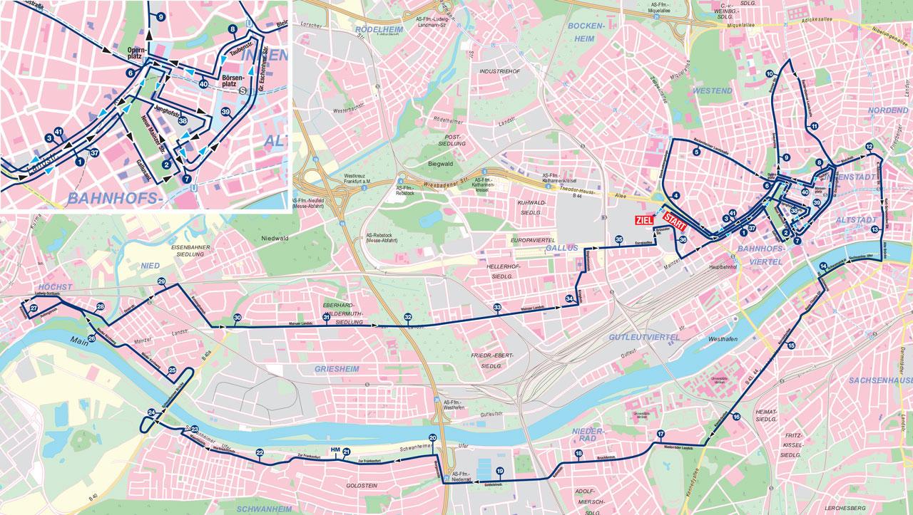 Frankfurt Marathon course