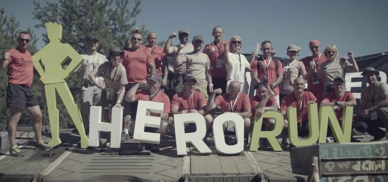 Hero run logo